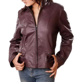 Womens Faux Leather Jackets